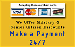 Make a Payment 24/7 Visa Mastercard, American Express, Discover